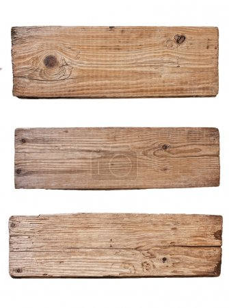 Old wooden board isolated on white background
