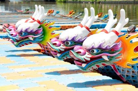 Chinese dragon boat head