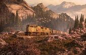 内燃机车的洛矶山脉