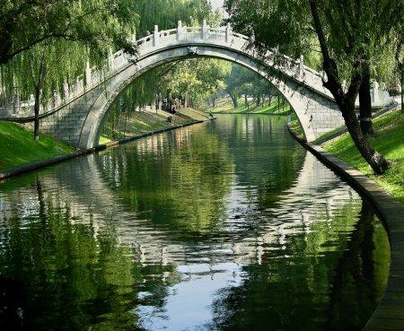 月亮门紫色竹公园,北京,中国