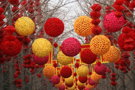 Chinese, Lunar, New Year Large Decorations Ditan Park, Beijing,